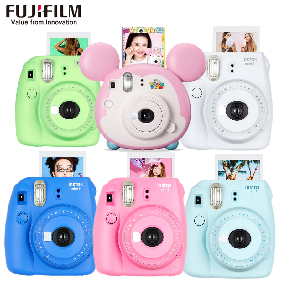 D'origine Fujifilm Fuji Instax Mini 9 Instantanée Film Photo Caméra + 20 Feuilles Fujifilm Instax Mini 8/9 Films