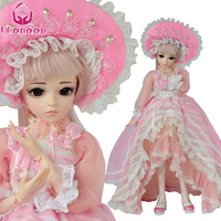 UCanaan 60cm BJD SD Doll 1/3 Body Model Reborn Baby Girls Dolls High Quality Toy Free Makeup With All Outfits Handmade Kids Toys
