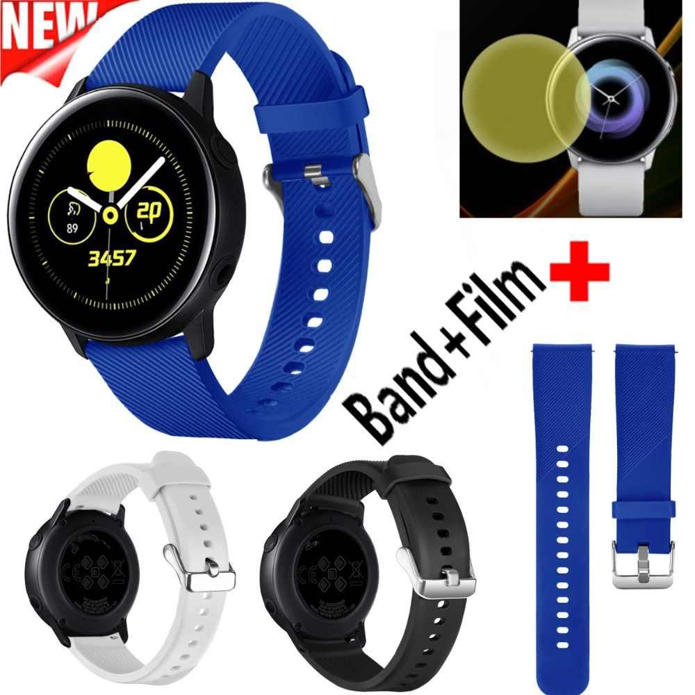 2 в 1 COMLYO часы силиконовый ремешок на запястье для Samsung Galaxy Активный с защитной