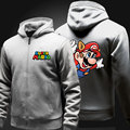 game painting super Mario men hoodies thicken fleece sweatshirt men comfortable cotton cartoon hoody homme
