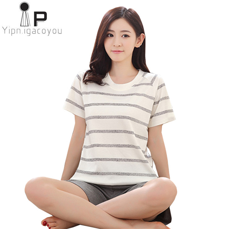 524421b693804 Pajamas for Women Home Clothes Pyjamas Pijama Female Sleepwear Homewear  Plus Size Cotton Pajama Set Kawaii Night Suit Nightwear-in Pajama Sets from  ...