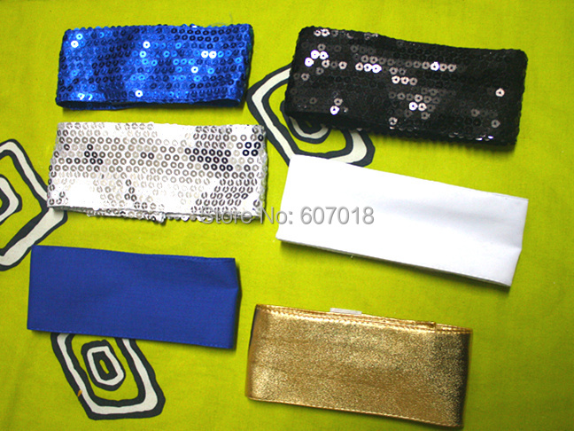 In Memory Of MJ Michael Jackson Classic Colorful Sequins Fabric Armband Brassard