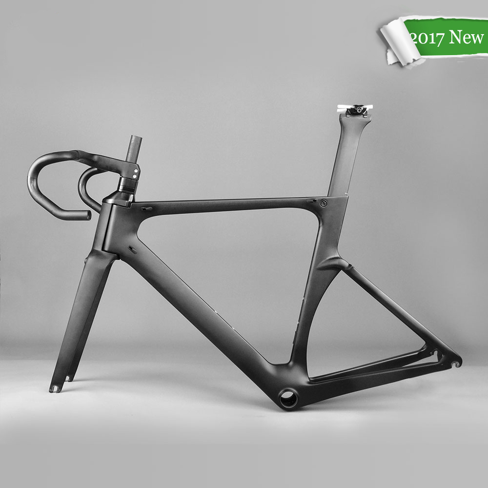 Carbon Road Frame UD Road Bike Frame BB86 Carbon Bicycle Frame 700C Frameset with Fork Headset Seat Post Handlebar 2017 Cycling