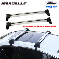 Ironwalls 2x Car Roof Rack Cross Bar 105 111cm Top Luggage Cargo Carrier W Anti Theft