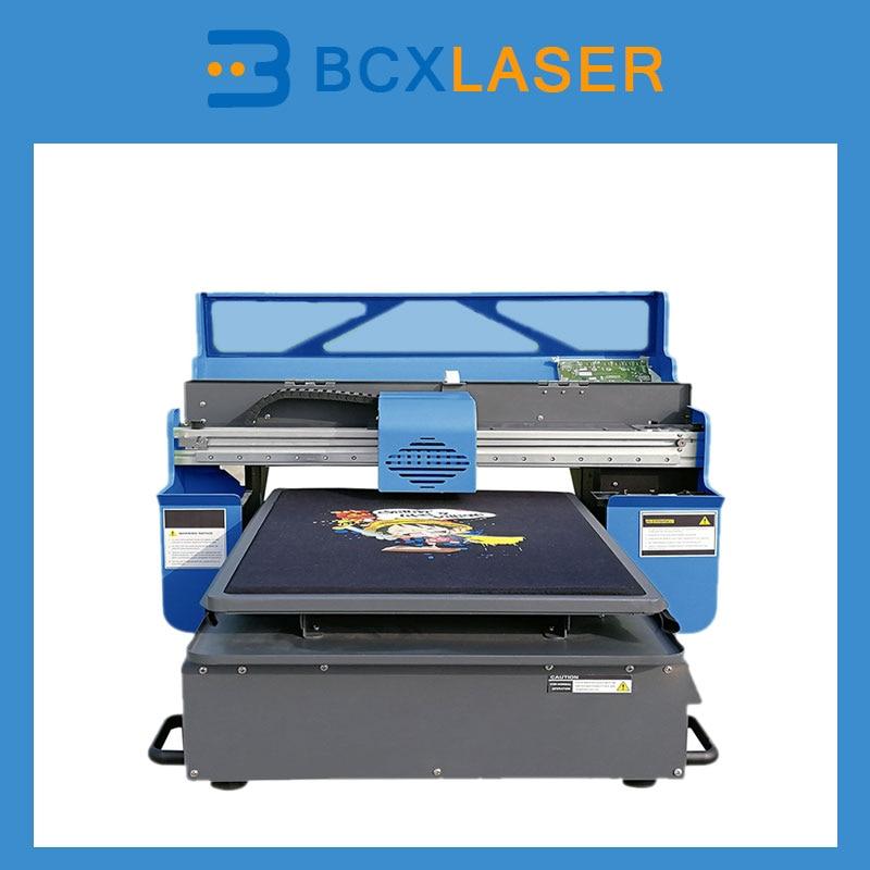 Nuttig Automatische Inkjet T-shirt Printer 5 Kleuren Dtg Printer Multicolor T-shirt Drukmachine