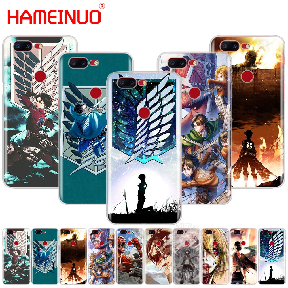 HAMEINUO Anime Japanese attack on Titan cover phone case for Oneplus one plus 5T 5 3 3t 2 X A3000 A5000