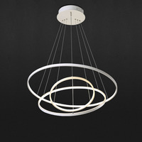 Simple Circle Modern LED Pendant Lamp Acrylic Ring Light Hanging Ceiling Fixtures For Home Living Room