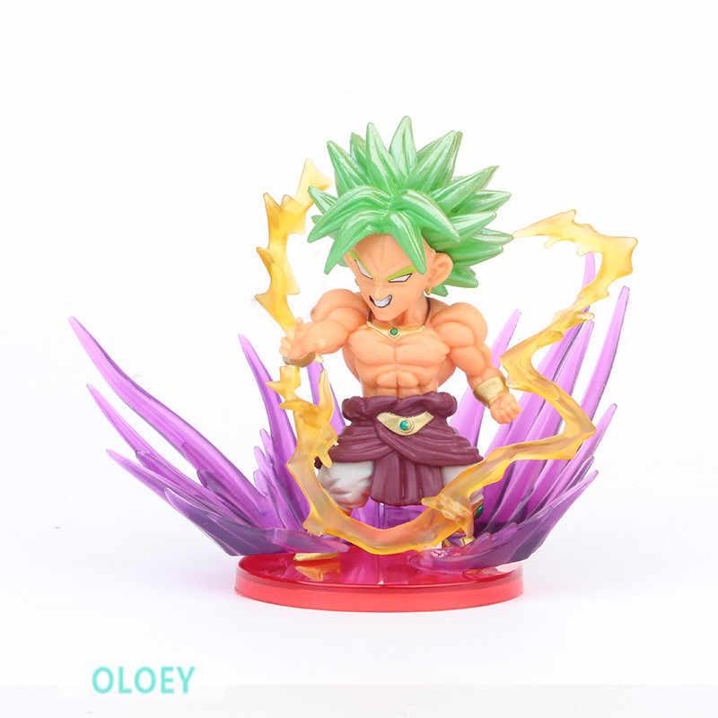 10CM 9Pcs/set Dragon Ball Z Goku Broli Vegeta Jr Fighting Great Satan Frieza PVC Action Figure Collectible Model Toy OPP L48