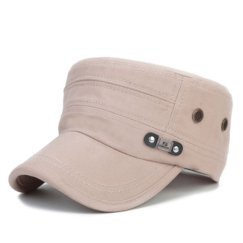 e0fc2ce9a47 Men Women Army Flat Visor Cap Hat Cotton Military Vintage Breathable For  Outdoor ALS88