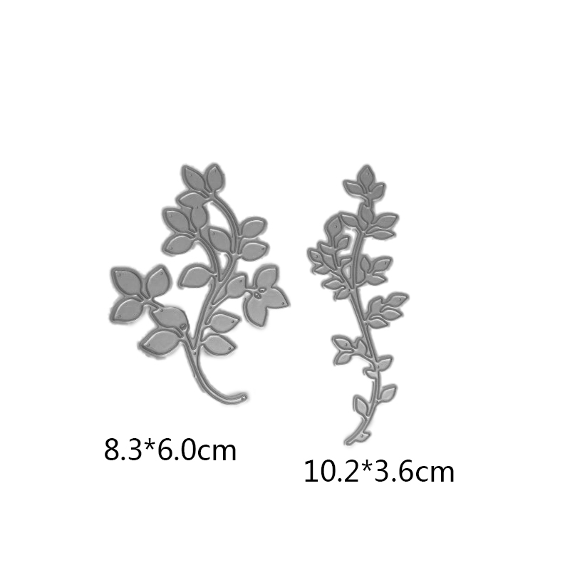 2pcs leaves vine spring branch Metal Cutting Dies for card DIY Scrapbooking Embossing stencil Paper Craft Album template Dies in Cutting Dies from Home Garden