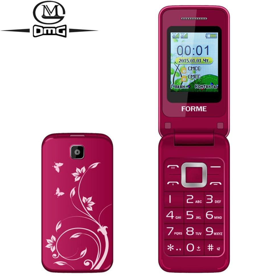 Цена за России Флип мобильный телефон Оригинальный FORME C3520 Dual SIM карты Большие Клавиши Шрифты FM старик сотовые телефоны