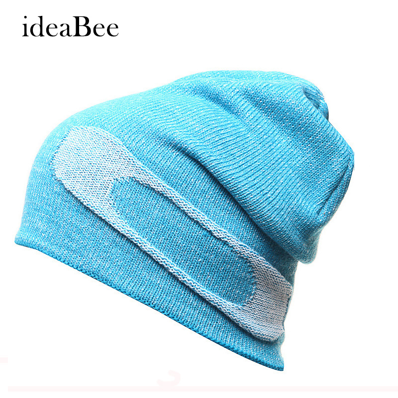 ideacherry High Quality Casual Hat Winter Snowboard Skating Unisex Caps Warm Patchwork Knitting Beanies Christmas Skullies cn rubr high quality casual hat winter skating unisex caps warm dot knitting beanies christmas gifts for women men