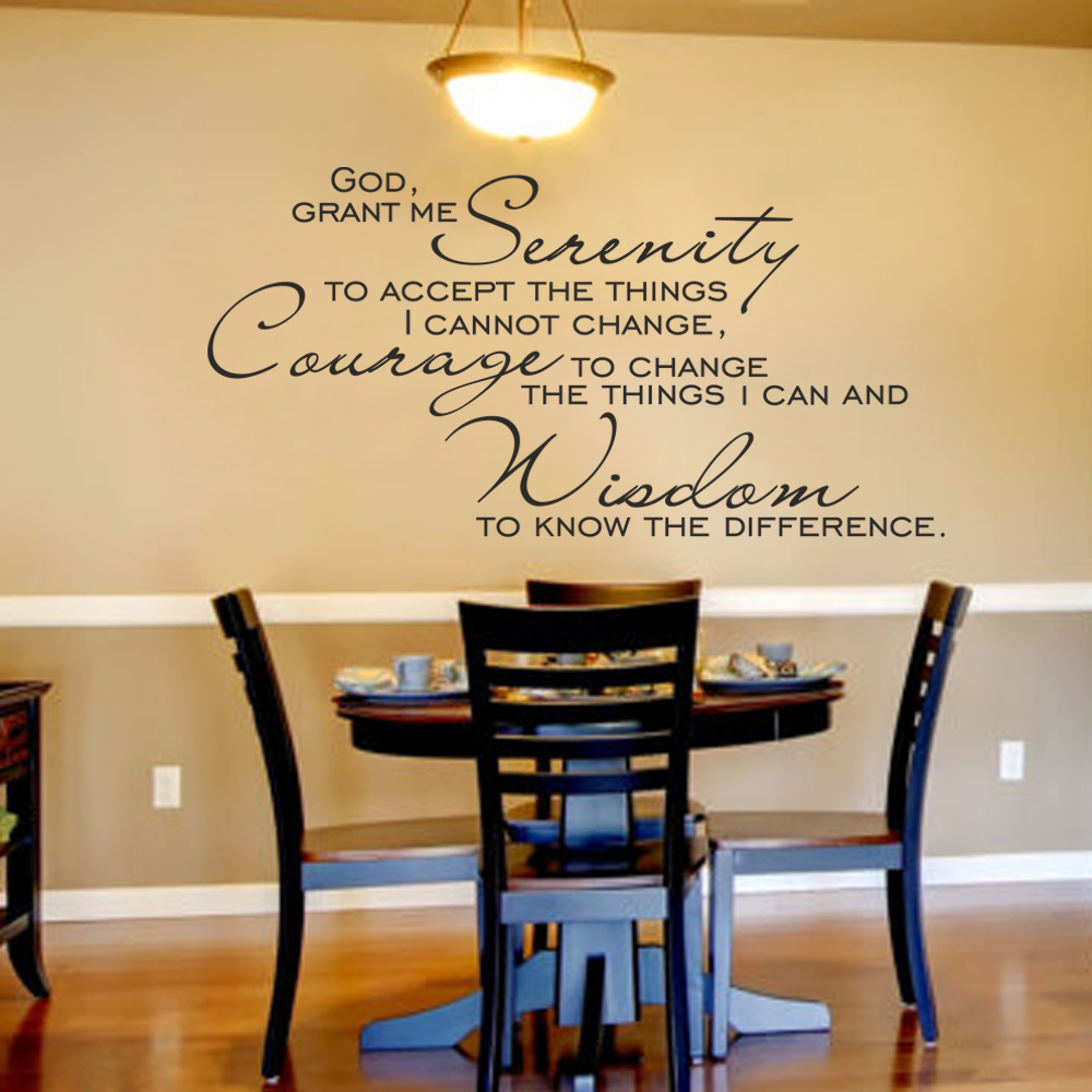 God Grant Me The Serenity Scripture Wall Decal Christ Art Quote