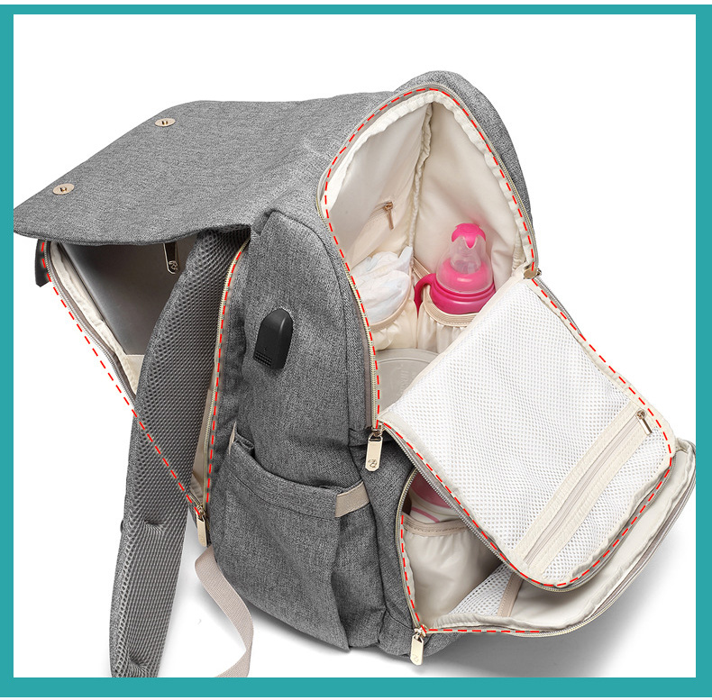Baby diaper backpack for travel