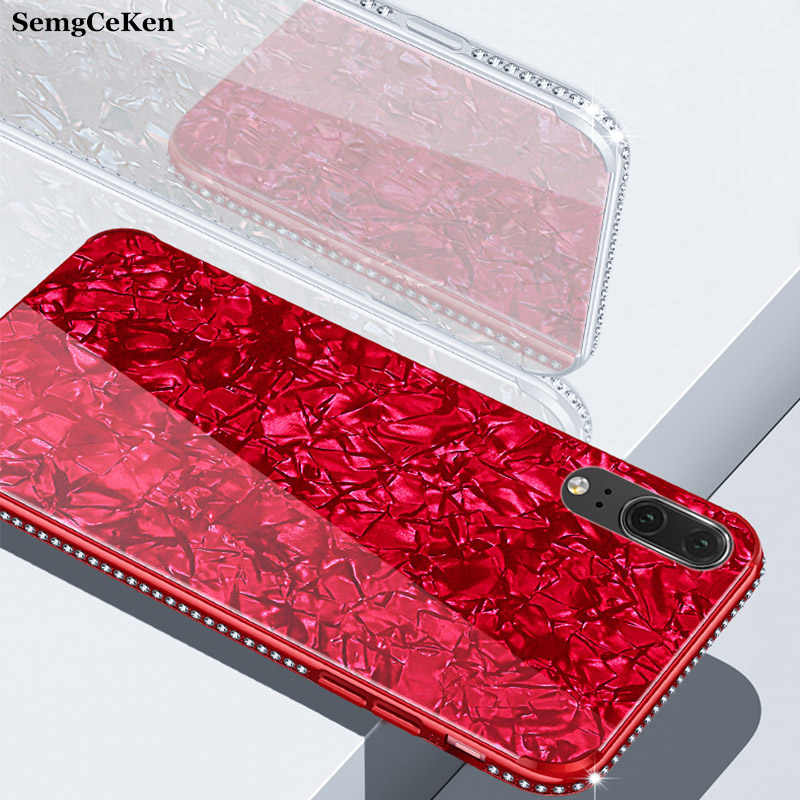 SemgCeKen เพชร glitter สำหรับ huawei p20 pro lite p20pro p 20 p20lite luxury original 3d hard back cover coque etui