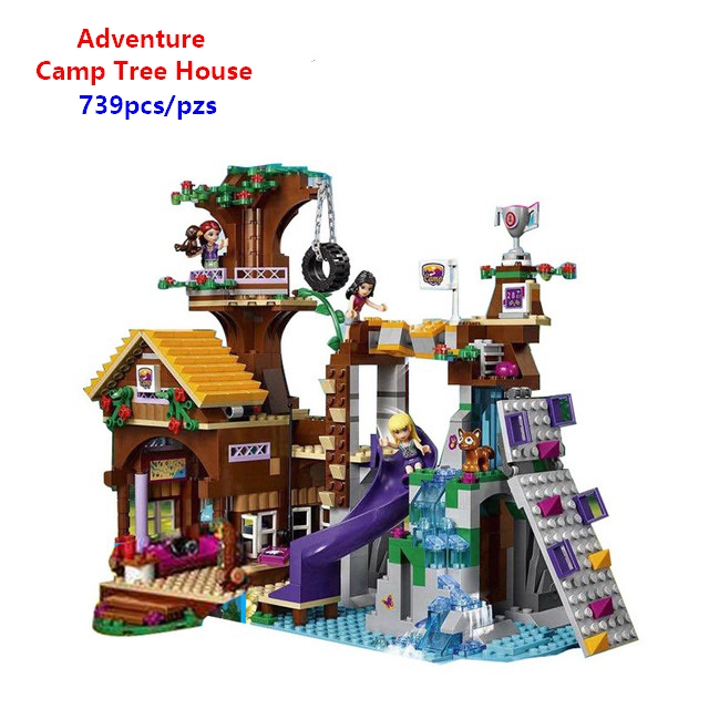 New Friends Adventure Camp Tree House 41122 Building Brocks Emma Mia Figures Educational toys Compatible with Lego Best Gift image