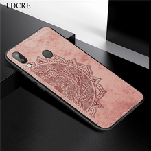 For Samsung Galaxy M20 Cover Case 3D Luxury Cloth Fabric Phone
