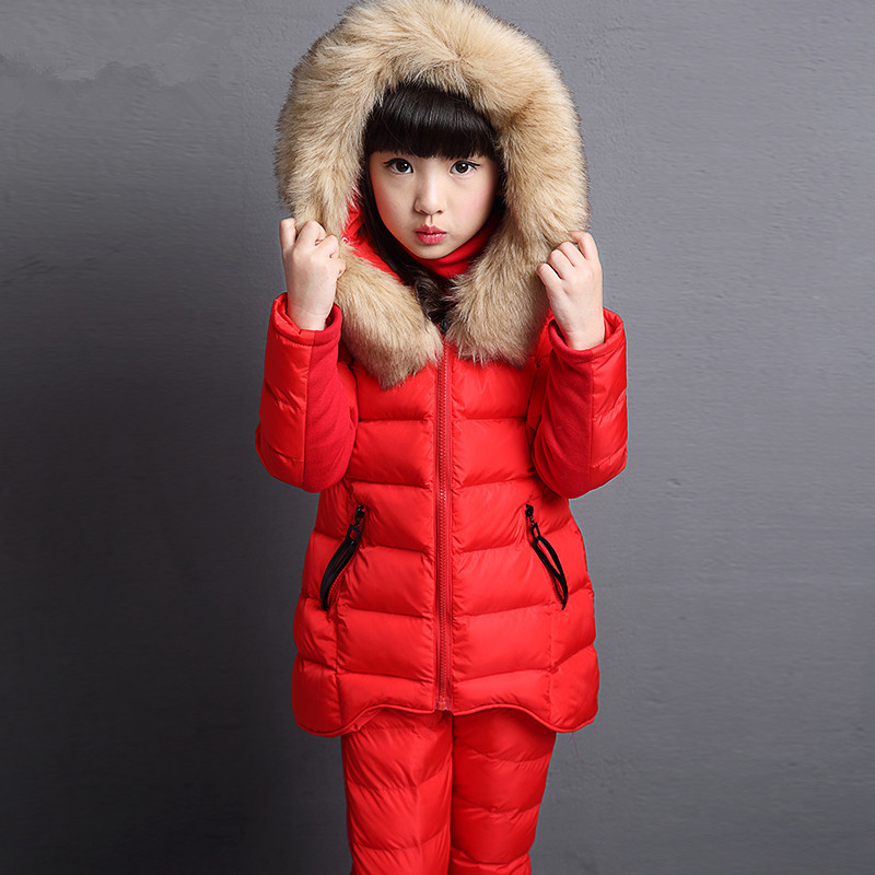 Girl Winter Three-Piece Fur Collar And Coat Girl Clothes Warmth Clothes Winter Clothes For Gril And Childerm Waistcoat Kids PantGirl Winter Three-Piece Fur Collar And Coat Girl Clothes Warmth Clothes Winter Clothes For Gril And Childerm Waistcoat Kids Pant