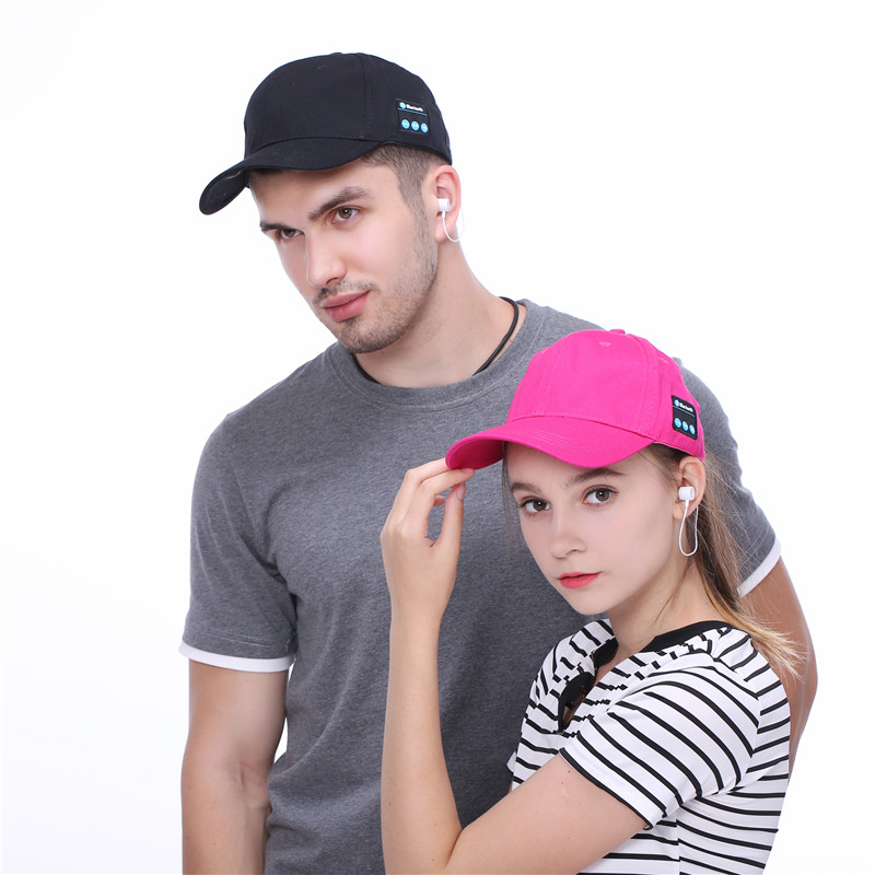 Men Women headphone Cap Wireless Sport Bluetooth V4.1 Music Hat Cap Speaker Earphones Baseball Hats women cap skullies