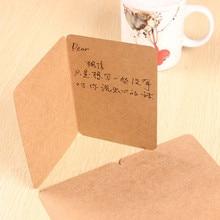 20Pcs/ Lot 20*15cm Kraft Paper Blank Folded Cards Handmade Postcard Greeting Cards Paper Crafts Art Paper Party DIY Scrapbooking