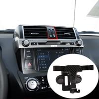 2 Style ABS Carbon Fiber Mobile Phone Holder Trim for Toyota Land Cruiser Prado FJ150 150 2014 2019 toyota phone accessories