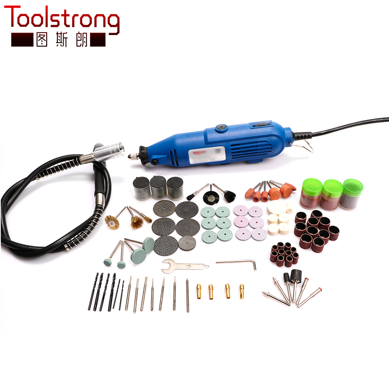 Toolstrong Mini Drill Dremel Style Electric Rotary Tool Engrave Grinder Variable Speed With 211pcs Accessories DIY Kits TSL 25B-in Grinders from Tools    1