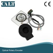 цена на Cheap 20mm hole hollow shaft encoder disc 5v line driver output incremental encoder module kit PD56-20