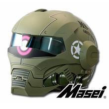 Masei матовая немой зеленый Зак новый стиль 610 мотоциклетный шлем IRONMAN железный человек открыты шлем мотокросс