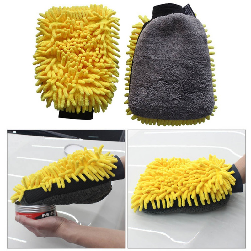 New Car Cleaning Brush Cleaner Microfiber Super Clean Car Windows Cleaning Sponge Product Cloth Towel Wash Gloves Auto Washer