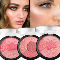 Face Blush Makeup Palette Petal Matte Blusher Highlighter Powder Contour Cheek Rouge Easy to Wear Make Up Natural Minerals