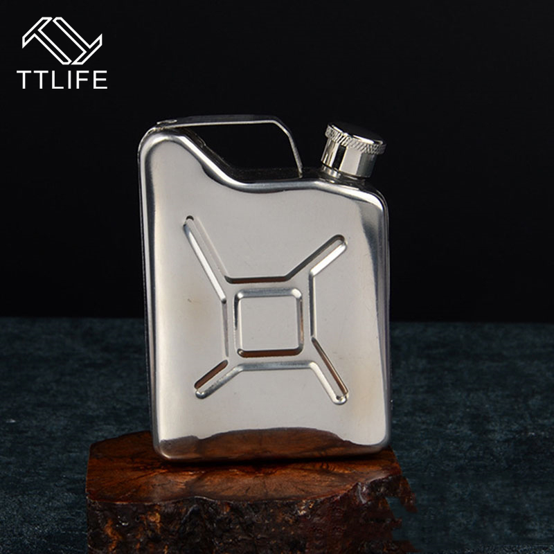 TTLIFE 2018 New Portable 5 OZ Stainless Steel Liquor Hip Flasks Wine Alcohol Can Whisky Pocket Bottle Outdoor Mini Drinkware