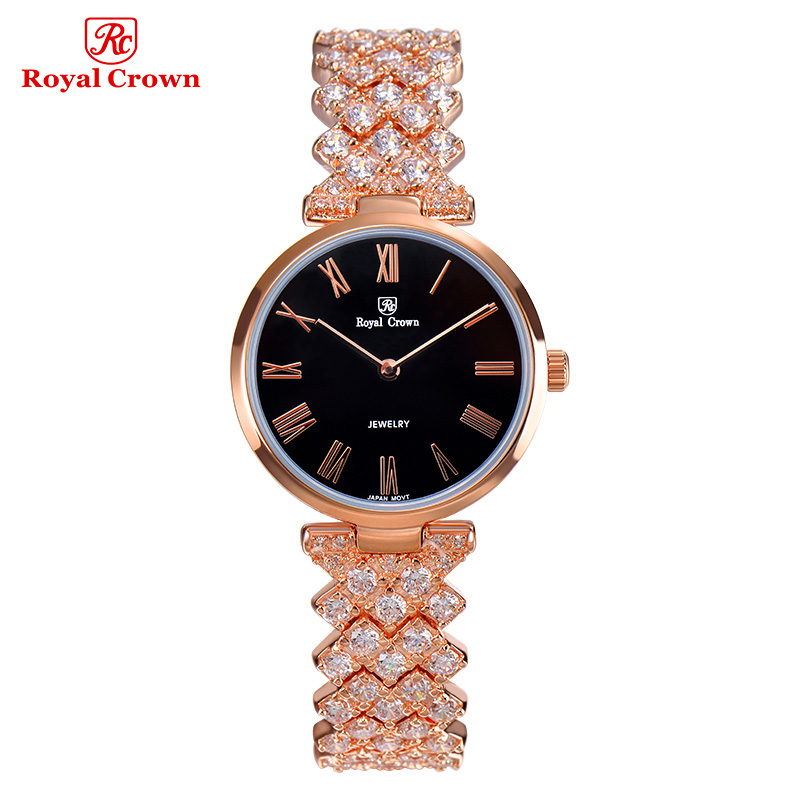 Ultra Thin Lady Women's Watch Japan Quartz Fashion Fancy Dress Bracelet Luxury Crystal Party Girl Birthday Gift Royal Crown fashion modern silver crystal flower quartz pocket watch necklace pendant women lady girl birthday gift relogio de bolso antigo