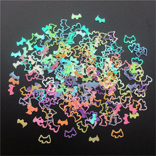 4 мм милые в форме собаки ПВХ свободные блестки для маникюра ногтей, свадебные конфетти, аксессуары для орнамента/ремесла