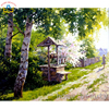 Diy Pictures By Numbers Countryside Wall Craft Modular Painting By Numbers On Canvas Acrylic Coloring Drawing