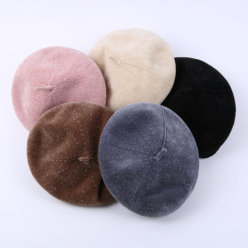 Women New Spring Winter Wool Beret Hat Girls Flat Cap Painter Cap Vintage Berets Solid Color Caps French Artist Hat Dropshipping