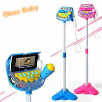 Okus Baby Newest Kids Early Education Musical Toy Stand Type Music Microphone Adjustable Karaoke Microphone