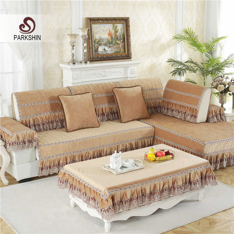 US $10.96 42% OFF|Parkshin Modern Sofa Cover Coffee Nordic Living Room Euro  Luxury Plaid Couch Cover Meeting Sofa Case Corner Sofas Seat Covers-in ...
