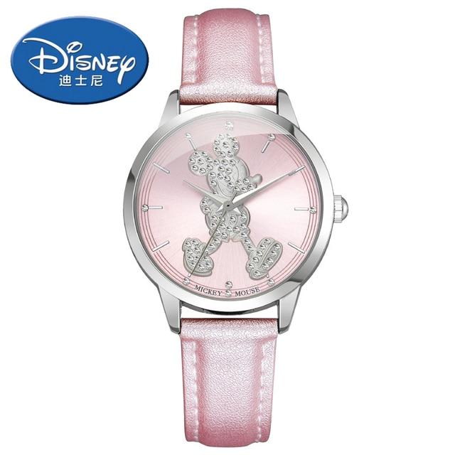 Disney kids watches Fashion sparkling diamond Mickey women watches Casual girl w
