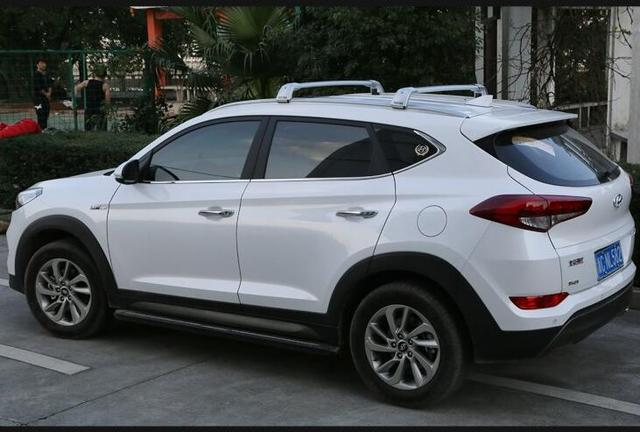 car aluminum roof rack rail baggage luggage cross bar for hyundai tucson 2015 2016 2017 with. Black Bedroom Furniture Sets. Home Design Ideas