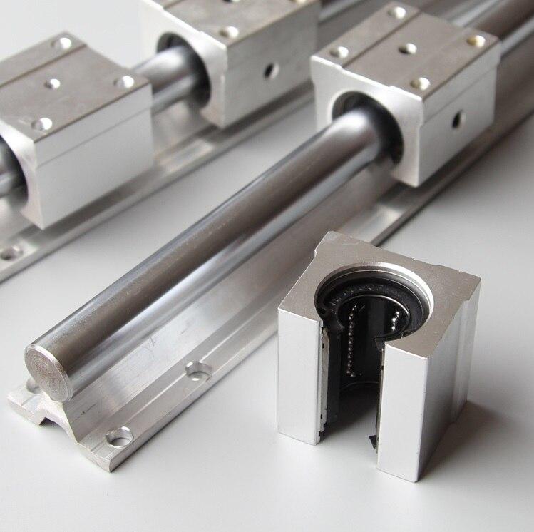 2 шт. SBR20 20 мм-L 1500 мм опорная направляющая линейная направляющая + 4 шт. SBR20UU линейные блоки CNC части линейная направляющая