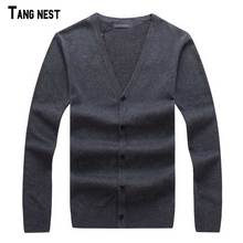 TANGNEST Men Cardigan 2017 New Spring Fashion Male V-neck Casual Cardigan Soft Easy Match Sweater Solid M-3XL MZL735