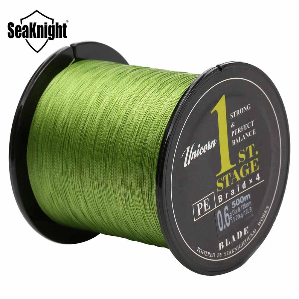SeaKnight Fishing Line Blade Braided Fishing Line 4 strands 500m Fishing Braid Wire Multifilament line Silver Carp Fishing