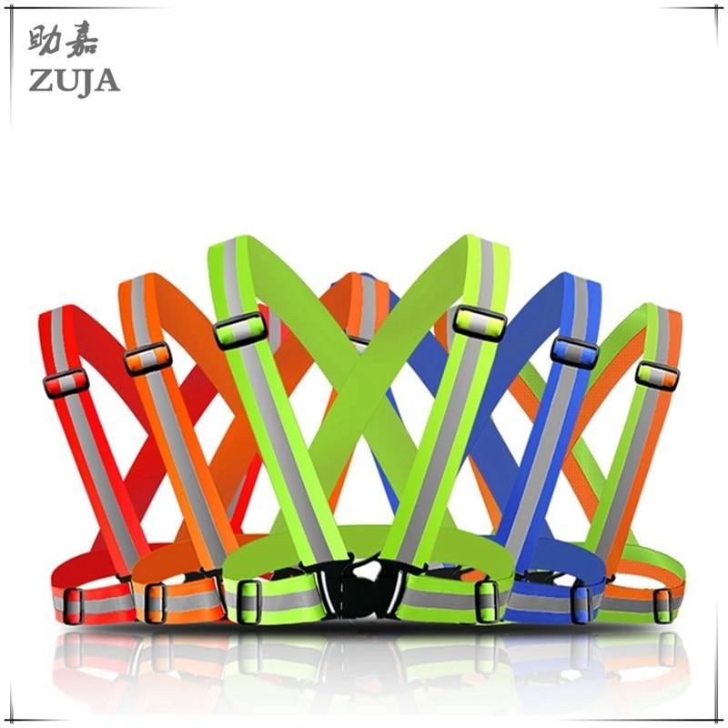 safety vest, reflective belt, high elastic high visibility reflective safety vest belt for bike jog operation band high quality high visibility safety