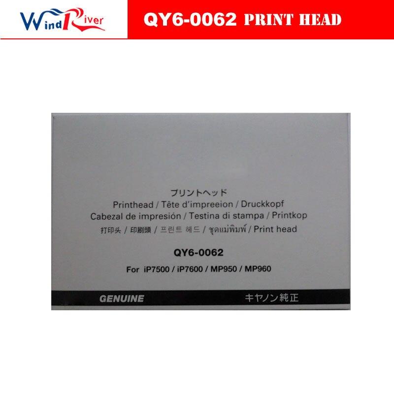 все цены на Original QY6-0062 Printhead Print head For Canon iP7500 iP7600 MP950 MP960 MP970 printer head онлайн