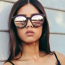 2019 New Square Sunglasses Women Brand Design Coating Mirror