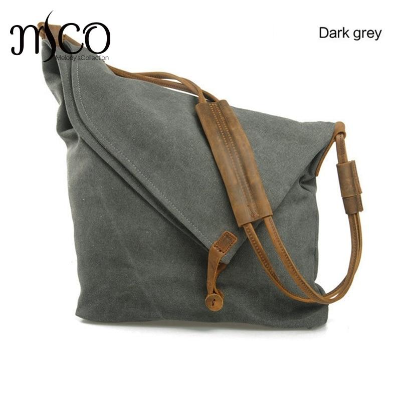 Bagaj ve Çantalar'ten Çapraz Çantalar'de Erkek Tuval Crossbody Messenger omuz çantası Tote vintage okul çantaları Gençler için Haki Seyahat Çantaları Büyük Kadın Haftasonu Çanta'da  Grup 1
