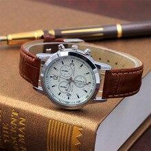 쿼츠 시계 남성 가죽 캐주얼 시계 남성 시계 남성 스포츠 손목 시계 montre homme hodinky ceasuri saat #4M09