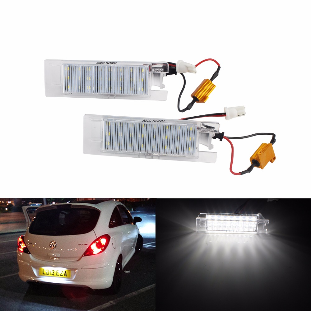 2x Opel Astra J Bright Xenon White LED Number Plate Upgrade Light Bulbs