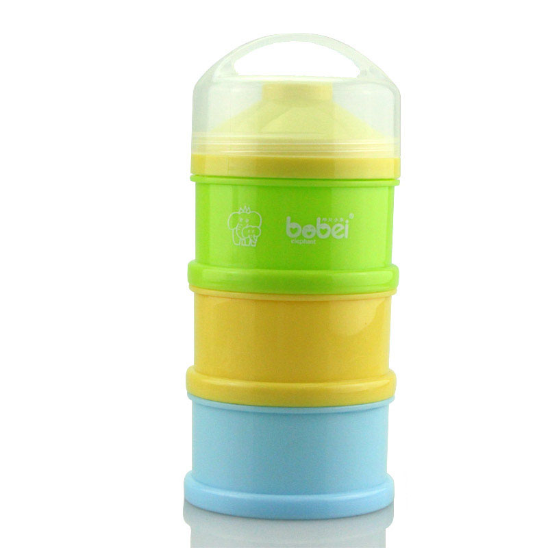 Portable Newborn Infant Milk Powder Container 3 Layers Baby Feeding Food Bottle Dry Fruits Snacks Candy Storage Box @ZJF