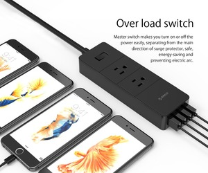 Image 5 - ORICO 2 AC Outlet Surge Protector with 4 USB Socket US Plug Mutiple Home Office Fast Charge Smart Power Strip Charger